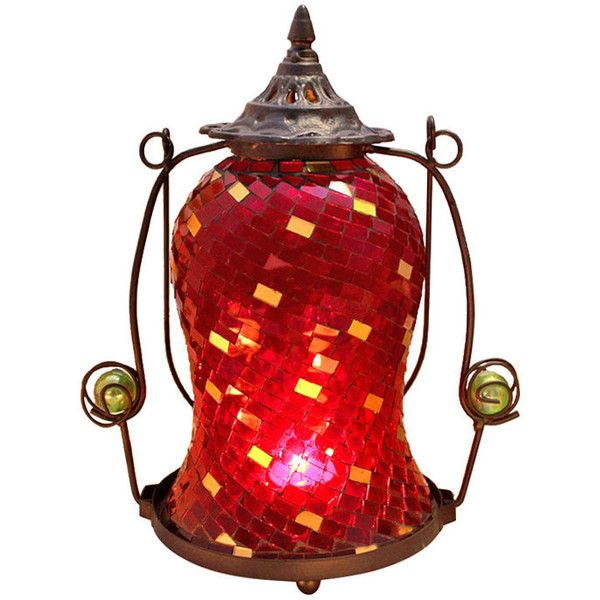 European Style Hurricane Lamp ($36) ❤ liked on Polyvore featuring home, home decor, candles & candleholders, red, european home decor and red home decor