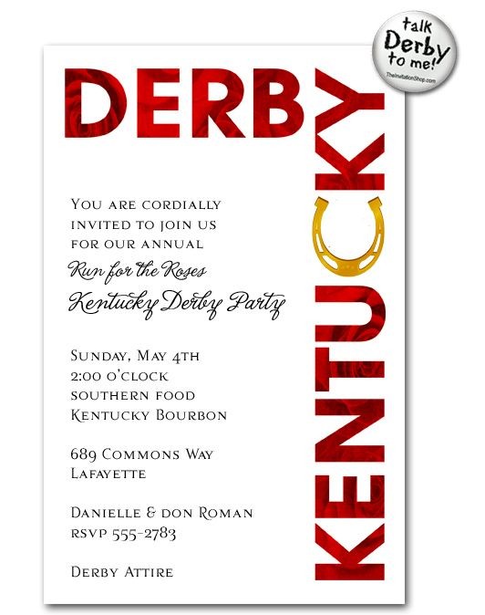 209 best kentucky derby party images on pinterest   derby day, Party invitations