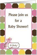 The Queen of the Jungle Pink Tiger Zoo Animals Polka Dot Girl Baby Shower Invitation Card by Greeting Card Universe. $3.00. 5 x 7 inch premium quality folded paper greeting card. Greeting Card Universe offers the largest selection of Baby Shower invitations on the web. Do something special this year with a custom invitation. Look no further than Greeting Card Universe for your Baby Shower invitation needs. This paper card includes the following themes: girl, chic, ...