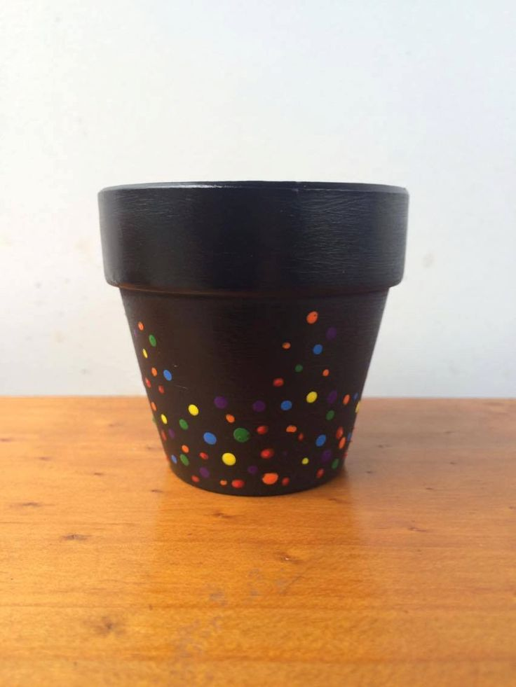 Rainbow Polka Dots 6cm Hand Painted Terracotta Pots, Succulent planter. by MagnoliaStudioAU on Etsy