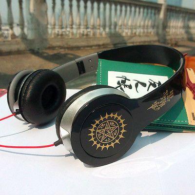 black butler earphone deep bass headset phone/computer headphone 3.5MM