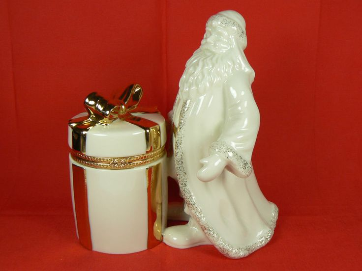 Mikasa Holiday Elegance St. Nick Santa Fine Porcelain / China Trinket Box FK001 | eBay
