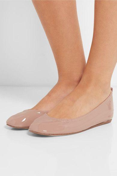 Lanvin - Patent-leather Ballet Flats - Beige - IT41.5