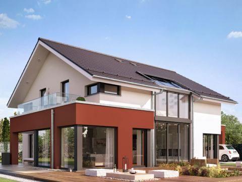 modernes Satteldach-Haus