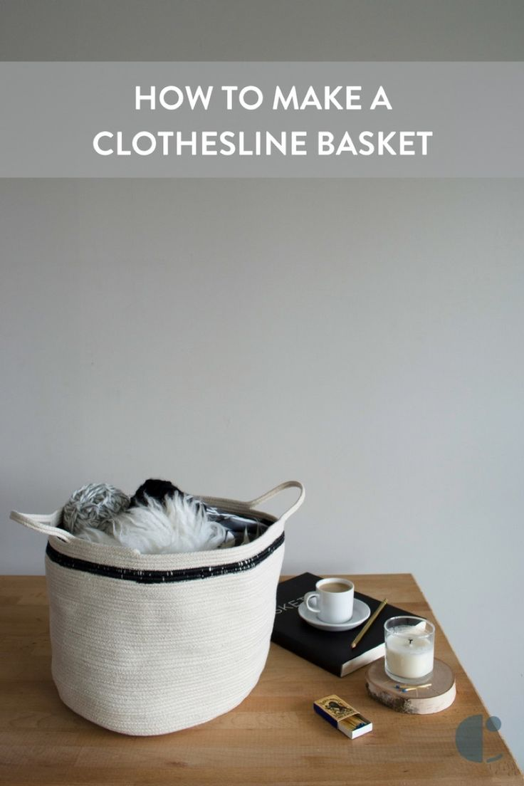 Make this simple Scandinavian-inspired clothesline basket