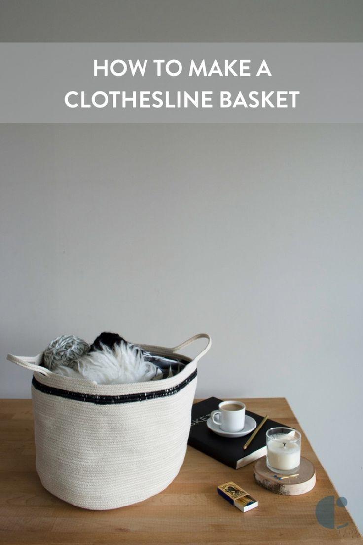 Make this simple Scandinavian-inspired clothesline basket