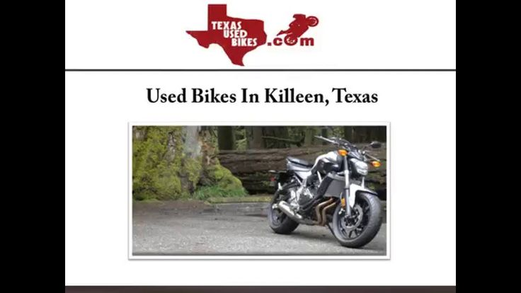 Texas Used Bikes is one of the leading used motorcycle dealers in Killeen, TX. The staff helps the customers choose from a huge inventory of well-maintained cruiser, dirt and street bikes. For more information about the used bikes offered in Killeen, visit: http://www.texasusedbikes.com