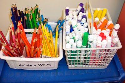 rainbow words - daily 5 word work