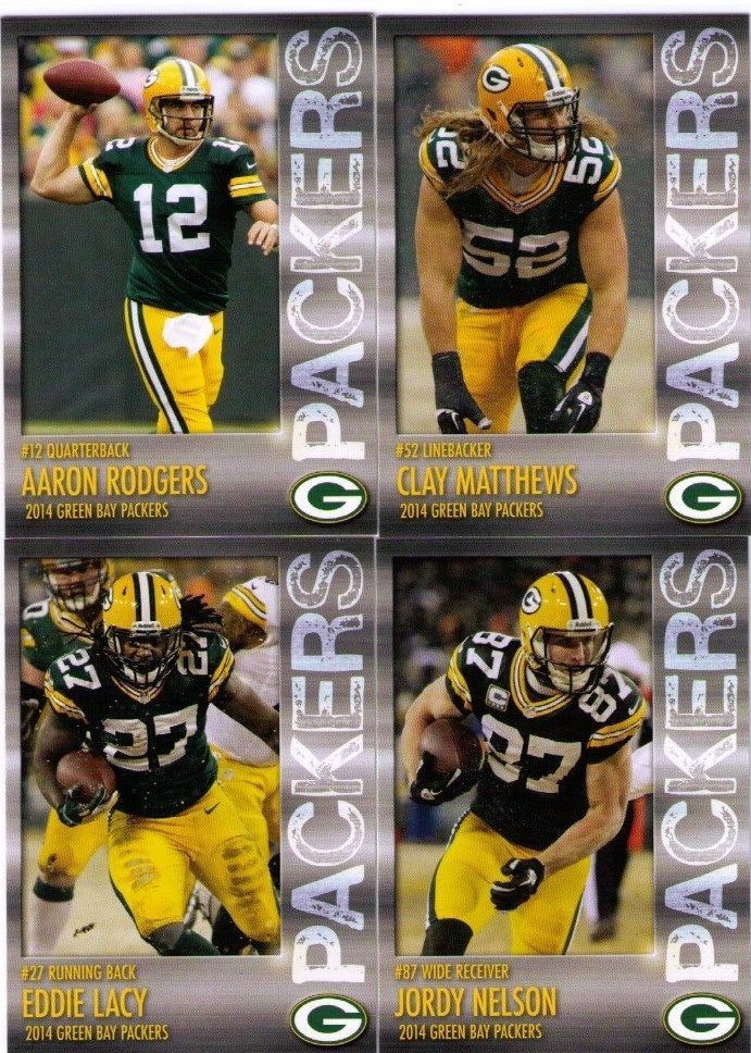 2014 Green Bay Packers Police Team Set Aaron Rodgers Clay Matthews Eddie Lacy + #WisconsinPoliceDepartments #GreenBayPackers