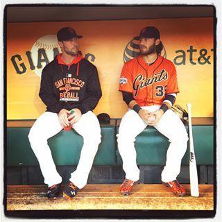 Hunter Strickland and Brandon Crawford