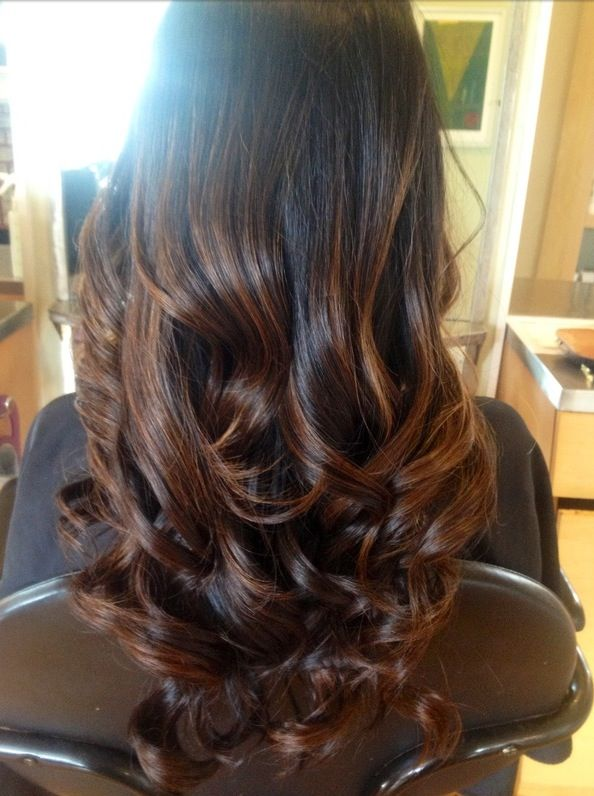 All about the ombr dark hair brunettes and dark - Ombre hair brune ...