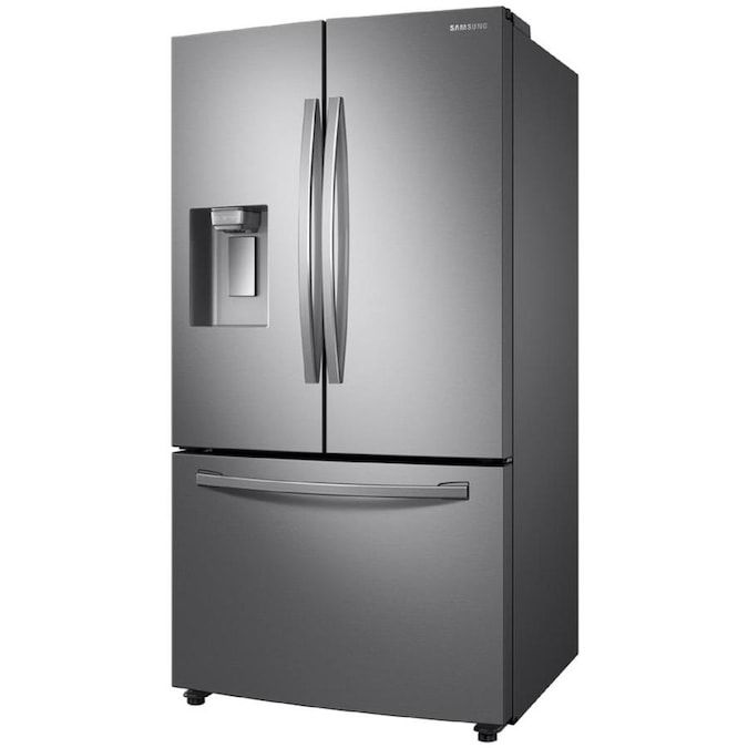 Samsung 22 6 Cu Ft Counter Depth French Door Refrigerator With Ice Maker Fingerprint Resistant Stainless Steel Energy Star Lowes Com In 2020 Counter Depth French Door Refrigerator French Door Refrigerator Led Light Design