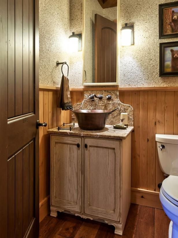 58 Best Images About Powder Room On Pinterest Rustic
