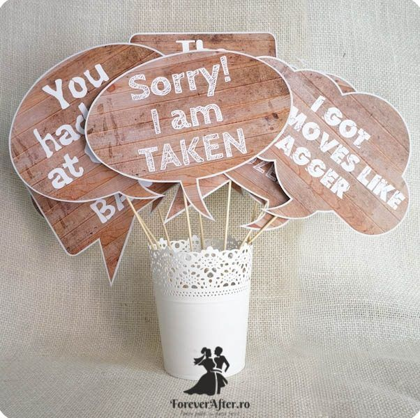 Set 9 props cu mesaje pentru fotografii 2   Accesorii nunta - Props nunta   ForeverAfter.ro