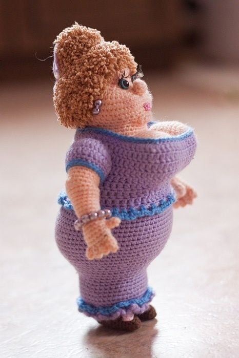 Paid Pattern | Fat Woman - Madam Brioche by Alena Mihaleva at http://www.livemaster.ru/item/2134689-materialy-dlya-tvorchestva-mater-klass-madam