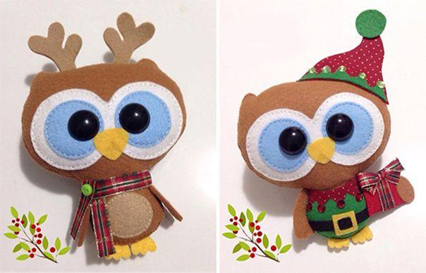 Новогодние игрушки из фетра, фото 3