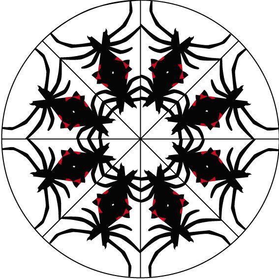 Araña disposición  circular.