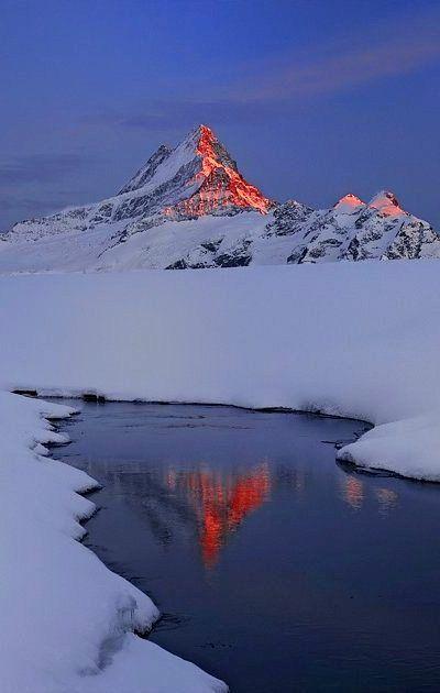 Bachalpsee and Schreckhorn, Bernese Oberland, Switzerland