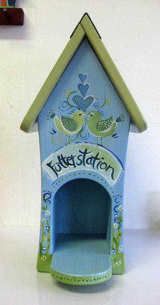 Nistkästen & Vogelhäuser - Vogelhäuschen - Futterhäuschen - Futterstation - ein Designerstück von personalisiertes bei DaWanda