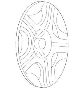 a genuine chevrolet malibu wheel cover 9597135