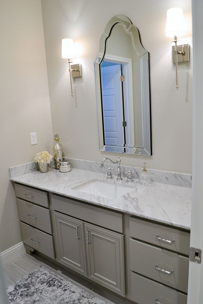 Grey Bathroom Cabinet Paint Color Sherwin Williams Dorian