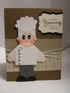 Chef made with paper punches