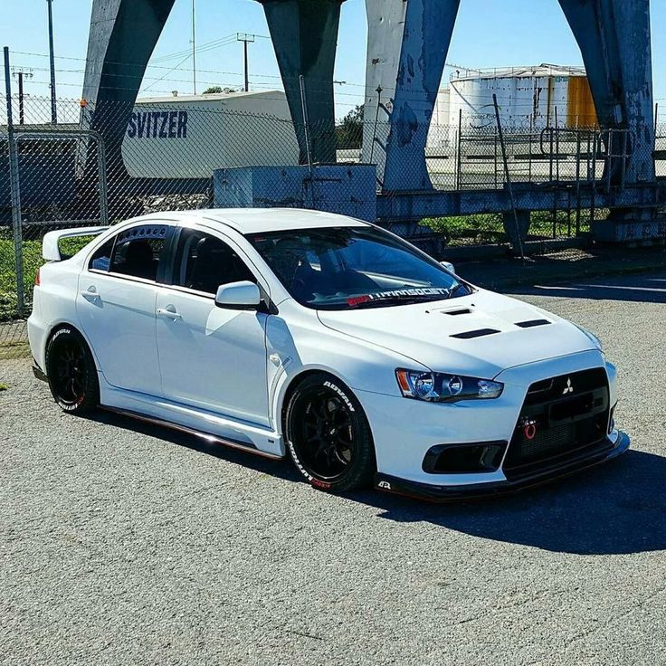 White Evo X Wallpaper