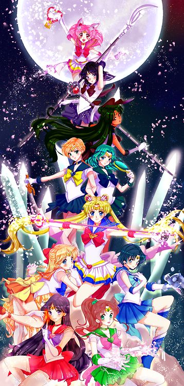Sailor Guardians showing their powers off!