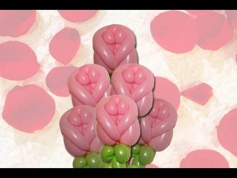 Curso de Globos: Elegante rosa hecha en globos. elegant rose made in balloons