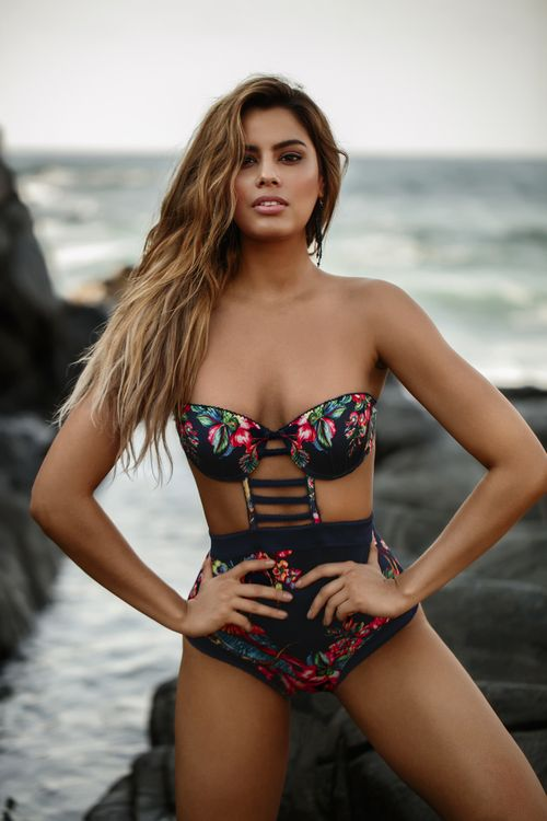 Buy the Bendito Birds One Piece AF50127E1 by Agua Bendita at CoutureCandy.com, the largest selection of Agua Bendita one piece available online.