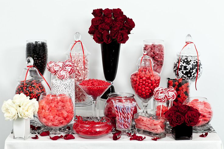 Nuts red black and white candy buffet nutsdotcom