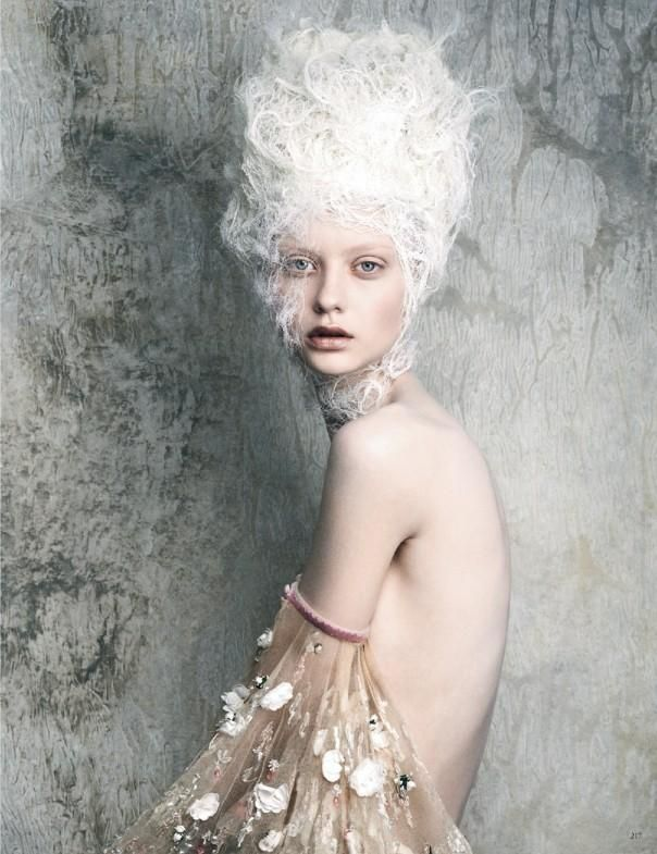 Vogue Germany April 2014 - Women will want to channel their inner Marie Antoinette after browsing through the Vogue Germany April 2014 editorial. Inspired by the decadent sty...