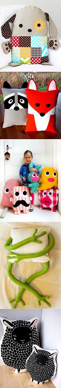 brinquedos travesseiros com suas próprias mãos