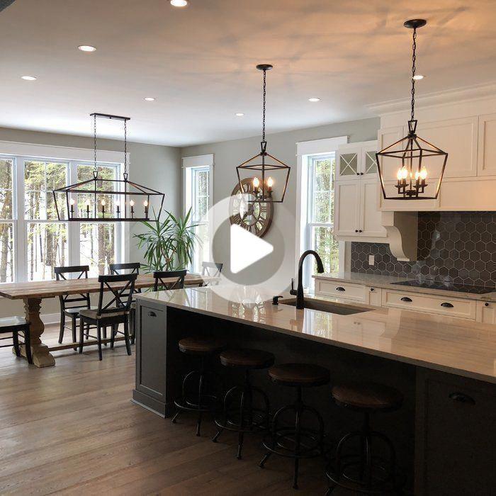 Carmen 6 Light Kitchen Island Linear Pendant In 2020 Home Decor Kitchen Kitchen Remodel Farmhouse Kitchen Lighting