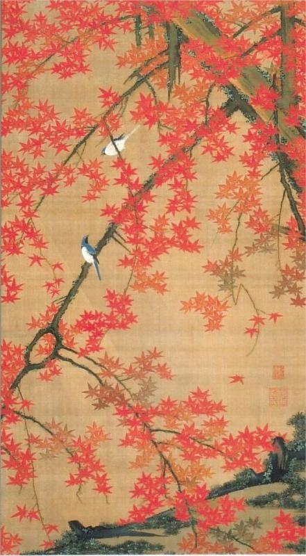 Maple Tree and Small Birds - Ito Jakuchu