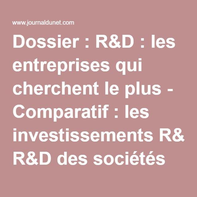 Dossier : R&D : les entreprises qui cherchent le plus - Comparatif : les investissements R&D des sociétés du Cac 40