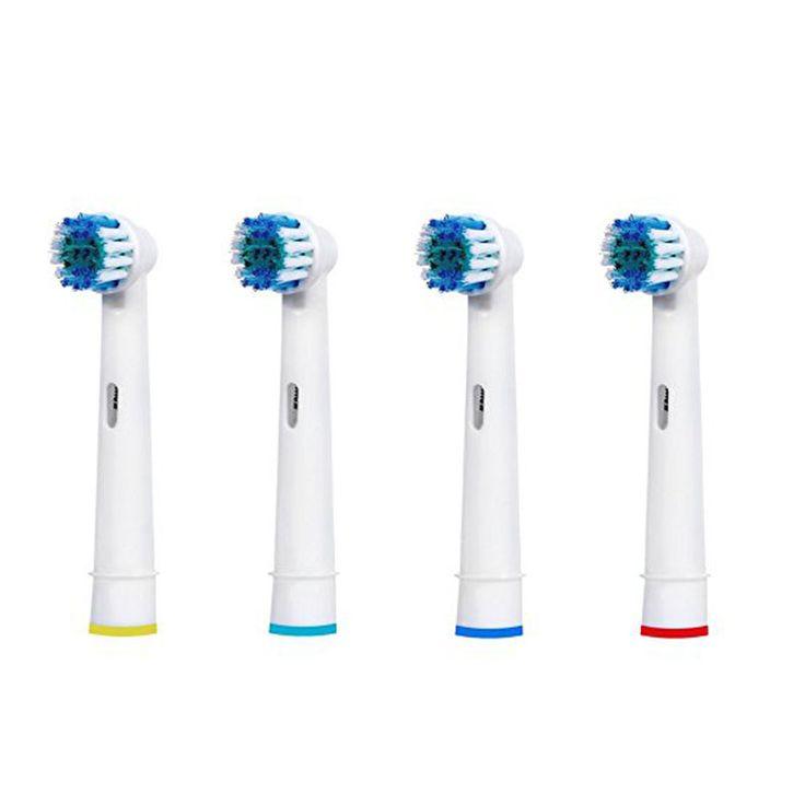 4 sztuk wymiana sb-17a elektryczne szczoteczki do zębów dla braun oral-b szczoteczka heads witalność 3d biały precision clean oral hygiene