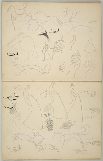 Pablo Picasso - Carnet 13 : Treizième carnet préparatoire aux Demoiselles d'Avignon, 1907