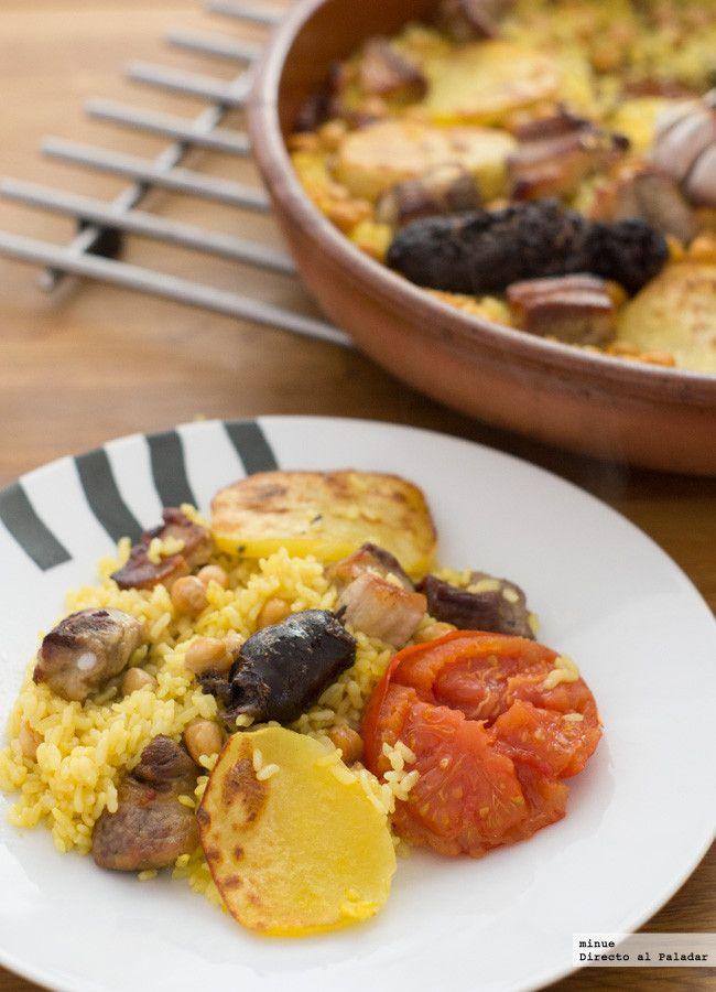 Receta tradicional de arroz al horno. Con fotos del paso a paso, los ingredientes y la presentación. Trucos y consejos de elaboración. Recetas de arroz