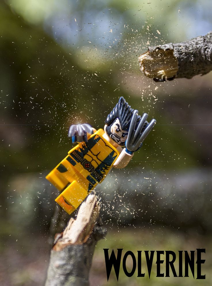 Lego Wolverine - this is what my husband needs to help him chop up kindling for the stove.