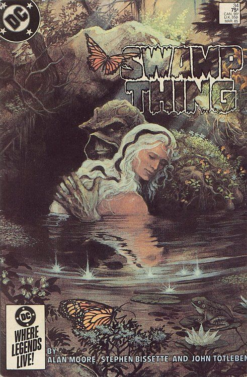 The Saga of the Swamp thing #34, march 1985, cover by John Totleben.