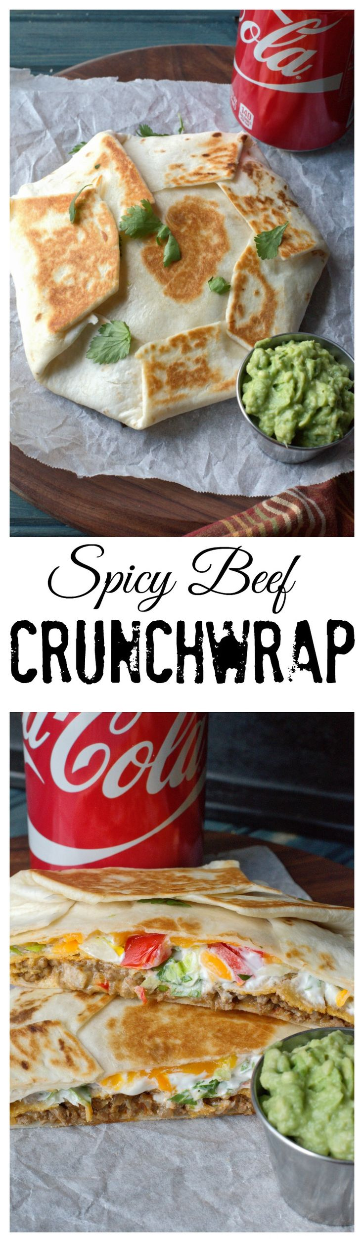 These Spicy beef crunchwraps are so easy and ridiculously amazing. A great twist for the typical taco night, and so much better then take out.
