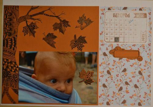 scrap kalendář listopad: