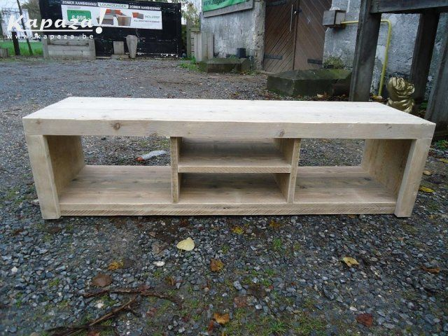 TV meubel van gebruikt steigerhout, TV meubels, Lommel | Kapaza.be