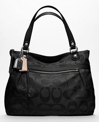 COACH POPPY METALLIC SIGNATURE SATEEN GLAM - Coach Handbags - Handbags & Accessories - Macy's