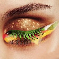 This would have taken forever. Weird but cool. Probably the kind of makeup that Ronald McDonald's wife wears!
