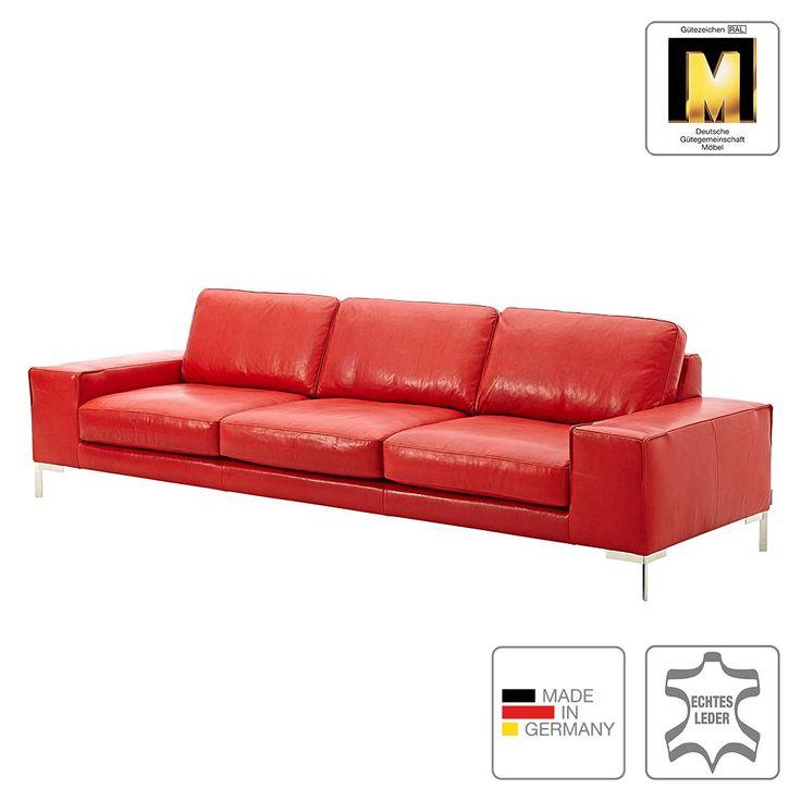 Sofa Lenox (4-Sitzer) - Echtleder - Ohne Kopfstütze - Rot - Gedecktes Leder, Machalke Polsterwerkstätten Jetzt bestellen unter: https://moebel.ladendirekt.de/wohnzimmer/sofas/?uid=2a147db3-1b90-53b8-89e5-215a81f027b8&utm_source=pinterest&utm_medium=pin&utm_campaign=boards #möbel #sofas #polsterwerkstätten #wohnzimmer #machalke #couches