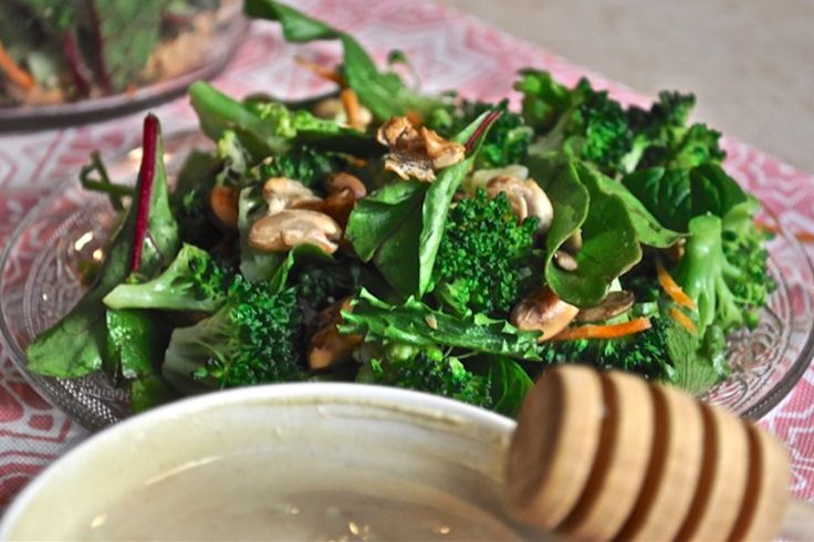 Mood Boosting Broccoli Salad. Healthy salad recipe to induce a state of happiness.