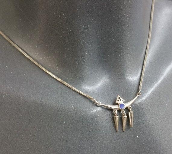 Halskette Indianer Lapislazuli Silber 925 SK634 von Schmuckbaron