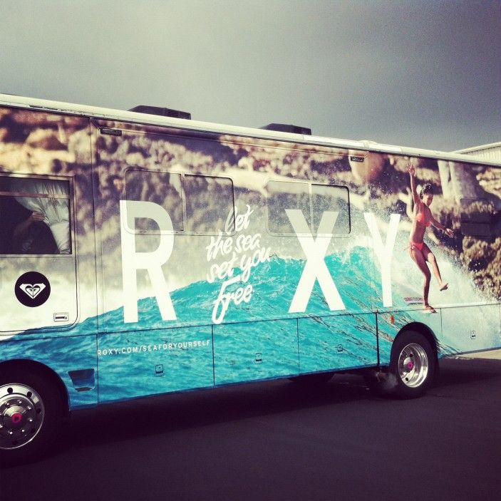 travelin' on the Roxy bus